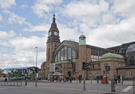 railway transportations: central railway station in the center of Hamburg Germany Editorial