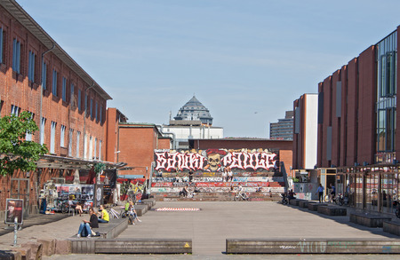 st pauli: place on the site of the former cattle market in St Pauli
