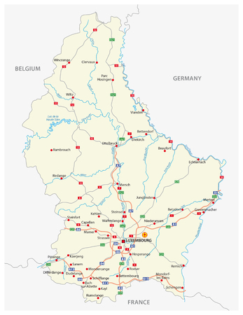 germany: road map Grand Duchy of Luxembourg