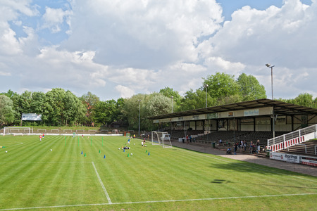 adolf: youth workout at stadium of Altona in Hamburg Ottensen