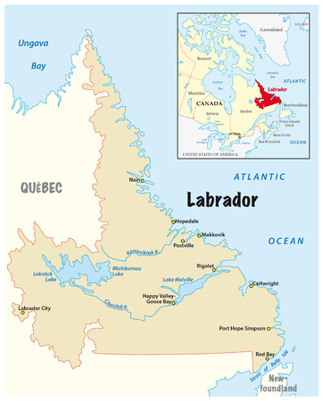 newfoundland: simple vector map of Labrador in Canada