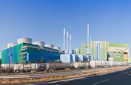 industrial park: Industrial waste incinerator in on industrial park Frankfurt Hoechst