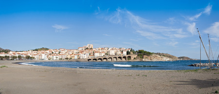vermilion coast: Panorama of the french commune Banyuls-sur-Mer