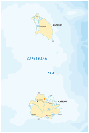 antigua and barbuda: antigua and Barbuda map