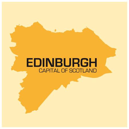 edinburgh: simple outline map of the Scotland capital Edinburgh Illustration