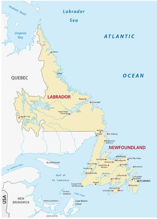 newfoundland: newfoundland and labrador map