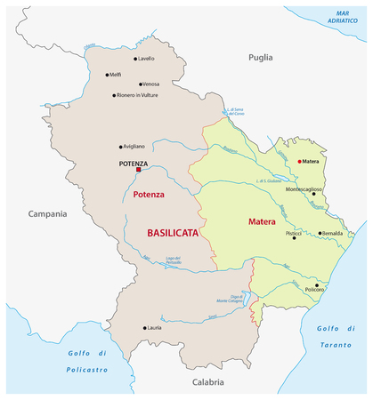 Abruzzo Administrative Map Italy Royalty Free Cliparts Vectors