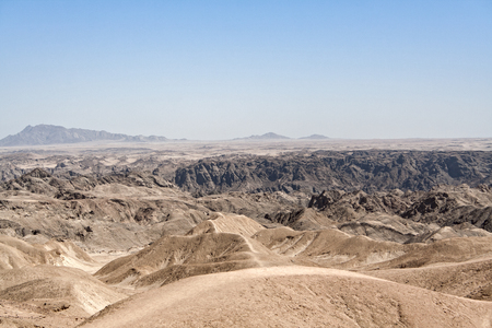 swakopmund: Panoramic view over the lunar landscape at Swakopmund, Namibia Stock Photo
