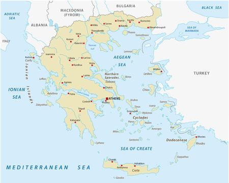 Hellenic Republic, greece abstract vector map