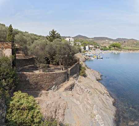 The port of the Spanish mediterranean village of Portlligat