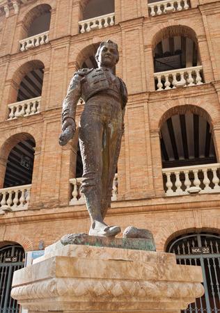 toreador: Statue Toreador Manolo Montoliu, Plaza De Toros, Valencia, Spain Stock Photo