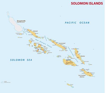 solomon: solomon Islands map