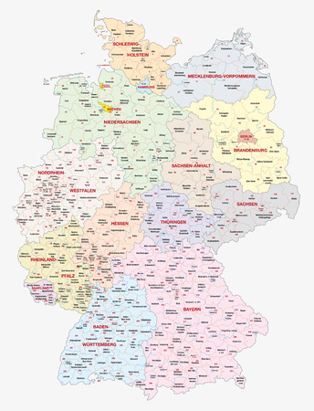 Map of the constituencies of the German federal election, 2017