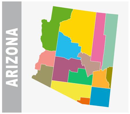 Arizona Map Vector Cliparts Stock Vector And Royalty Free - Arizona political map