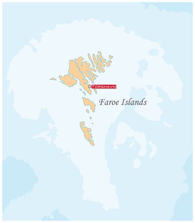Simple map of the autonomous Iceland group of the Faroe Islands