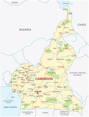 cameroon road vector map