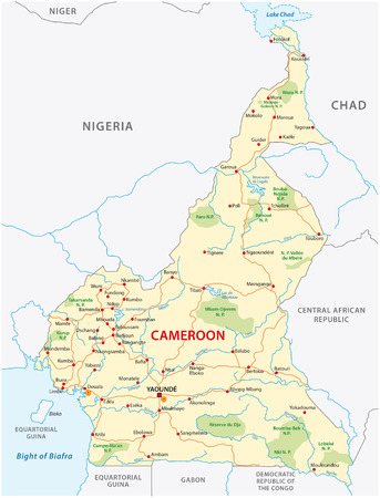cameroon road vector map