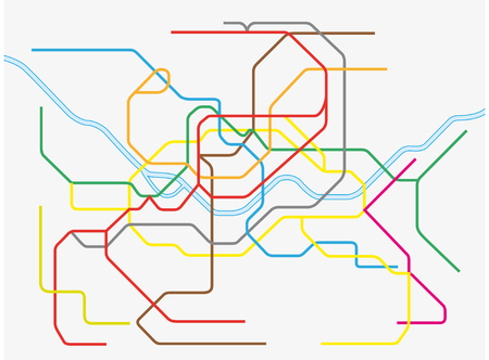 Colorful seoul metropolitan subway map