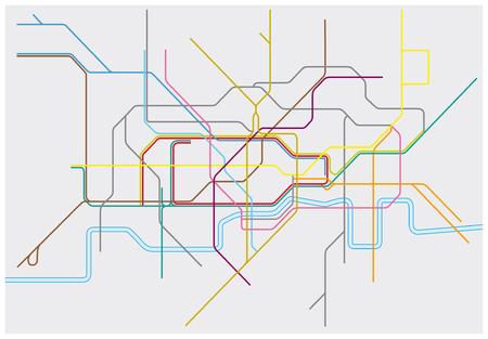 Mapa del vector del metro de Londres, Overground, DLR y Crossrail