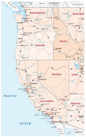 America Occidentale Cartina.Vettoriale Mappa Della Citta Di Los Angeles Stati Uniti D America Image 95742078
