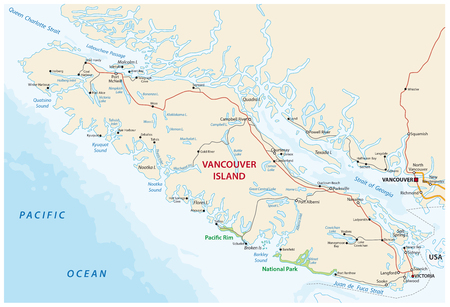 vector map of canada Iceland Vancouver Iceland