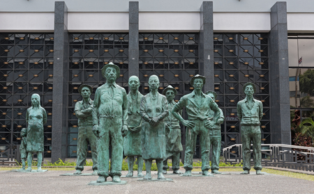 Sculpture of the Costa Rican Workers in San Jose Costa Rica