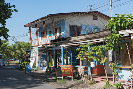 Caribbean wooden house in Puerto Viejo, Costa Rica
