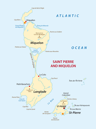 A Vector map of the french Iceland Saint Pierre and Miquelon