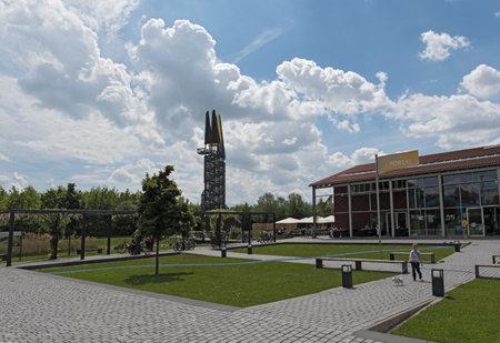 biotope: The visitor center Regionalpark Rhein-Main in Floersheim-Weilbach, Germany Editorial