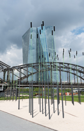 european: The new seat of the European Central Bank in Frankfurt, Germany