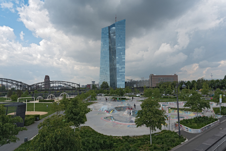 central bank: The new seat of the European Central Bank in Frankfurt, Germany