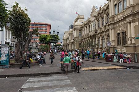 歩行者地域プラザ ・ デ ・ フアン ラファエル ・ モーラ (カレ 2)、サンファン、コスタリカ 報道画像