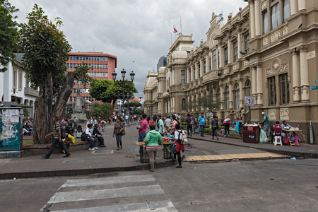 Pedestrian Area Plaza de Juan Rafael Mora (Calle 2), San Juan, Costa Rica Editorial
