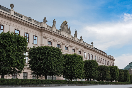 The Albertina Art Museum in the Archduke Albrecht Palace, Vienna Editorial