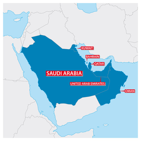 Map of the Gulf Cooperation Council Illustration