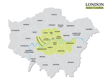 Administrative and political map of inner London, Statutory definition