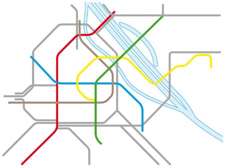 Vienna U-and S-Bahn Map