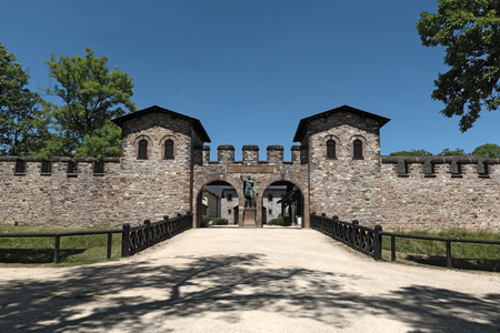 pius: The main gate of the Roman fort Saalburg near Frankfurt, Germany