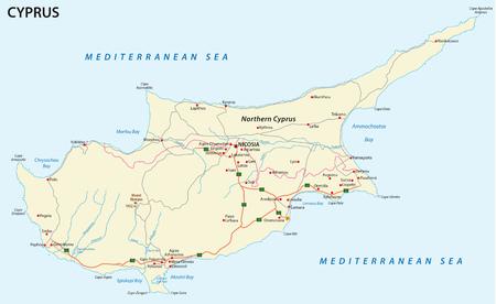 Programma di strada dell'isola mediterranea Cipro