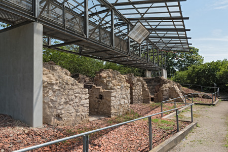 Historical lime kilns in Floersheim (Hesse) from the 18th and 19th century, Germany