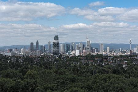 View of Frankfurt downtown from Goethe Tower Publikacyjne