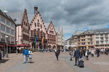 roemerberg: People on Roemerberg square in Frankfurt, Germany