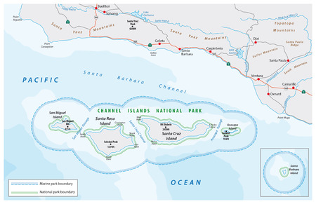 Map of the Channel Islands National Park