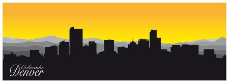 Silhouette of Denver the capital of Colorado