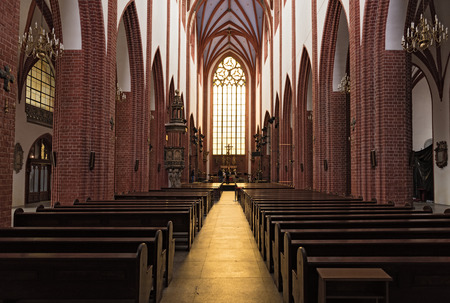 Gothic St. Mary Magdalene Church in Wroclaw, Poland Editorial