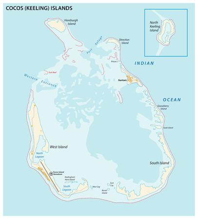 Coco (Keeling) vector map