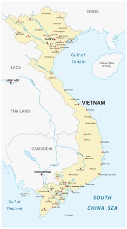 Vietnam vector map Illusztráció
