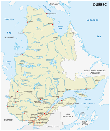 Province quebec road vector map