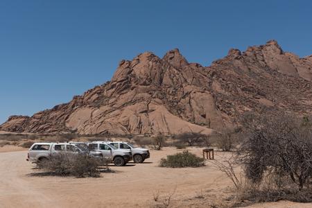 Spitzkoppe group of granite peaks in the Namib desert, Namibia