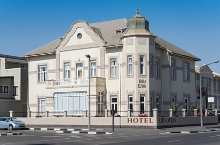 The restored 100 year old Hotel Eberwein in Swakopmund